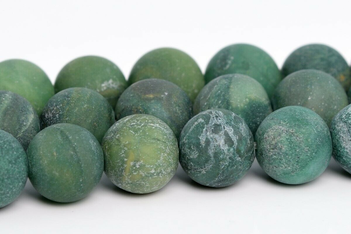 8MM MATTE HOWLITE GEMSTONE ROUND LOOSE BEADS 15/""