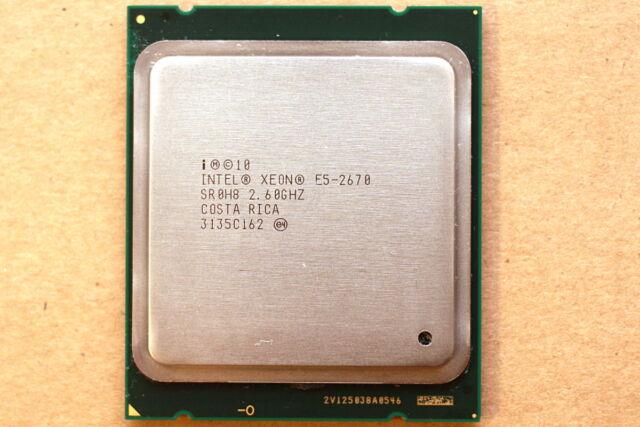 [LOT] 2x INTEL 2.6GHz 8-Core Xeon E5-2670 (115W) SR0H8 LGA2011 CPU