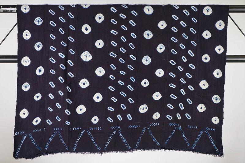 "Indigo Mossi Textile 58"" x 39""- Burkina Faso - African Art"