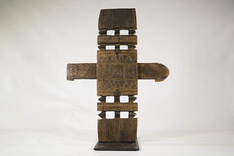"Geometric Dogon Door Lock 21"" - Mali - African Art"