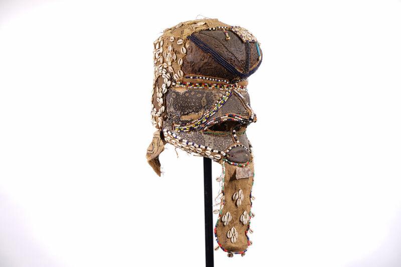 "Timeworn Kuba Bwoom Mask 12"" - DR Congo - African Art"