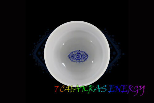 """8"""" frosted quartz crystal singing bowl B note in 440/432 hz + mallet & o-ring"""