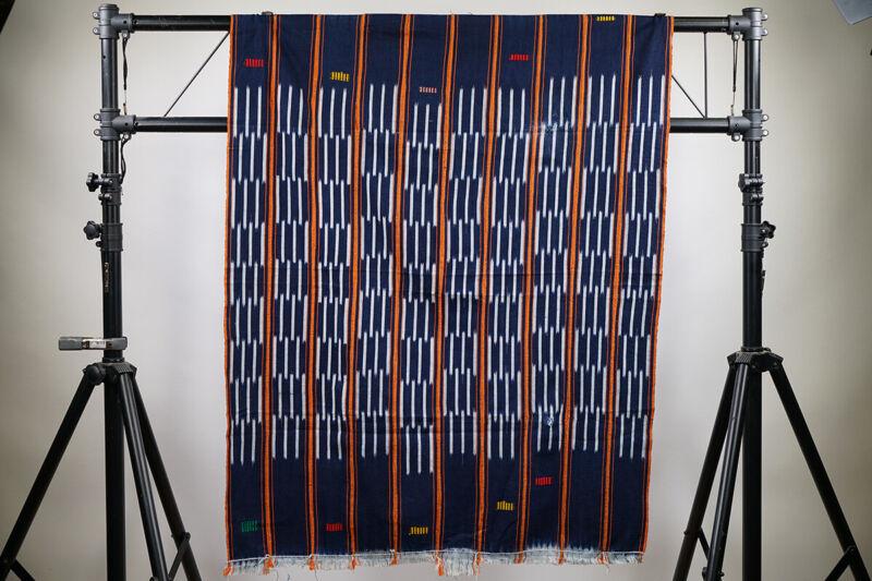 "Beautiful Baule African Textile 52"" x 40"" - Ivory Coast"