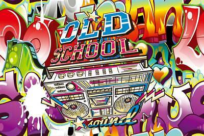 Old School Photo Background Graffiti Party Backdrop 90's Music Props for Studio ](90s Props)
