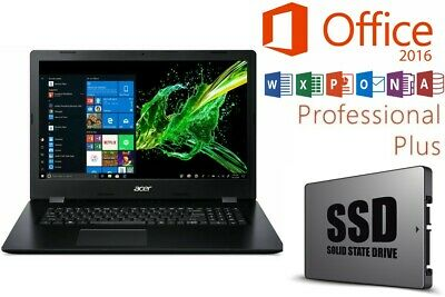 NOTEBOOK - ACER ASPIRE 317 - OFFICE 2016 PRO - SSD - 17 ZOLL - WINDOWS 10 PRO
