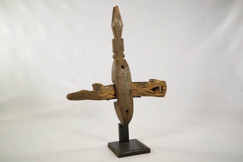 """Zoomorphic Dogon Door Lock 18"""" - Mali - African Art"""