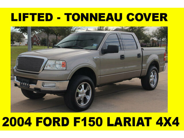 2004 ford f150 lariat 4x4 rust free 1 tx owner tonneau cover lifted used ford f 150 for sale. Black Bedroom Furniture Sets. Home Design Ideas
