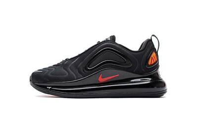 """NIKE AIR MAX 720 BLACK """"HYPER CRIMSON""""  MEN'S TRAINERS NEW BOXED ALL SIZE"""