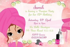 Pamper Party Invitations as great invitations design