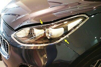 Head Lamp Molding Chrome Garnish Cover 4P Silver D831 for KIA Sportage 2017~2020