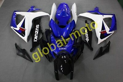 ABS Fairings for GSXR600/750 06-07 2006 2007 Blue and White colors bodykits