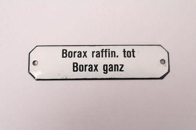 Borax Raffin. Tot Borax Very Enamel Sign Colonial Krämmerladen Approx. 1900