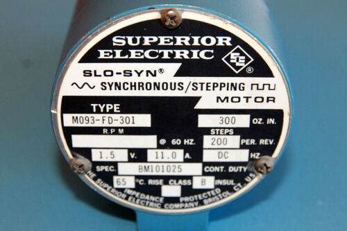 Superior Electric M093-FD-301 SLO_SYN Stepper Motor M093FD301