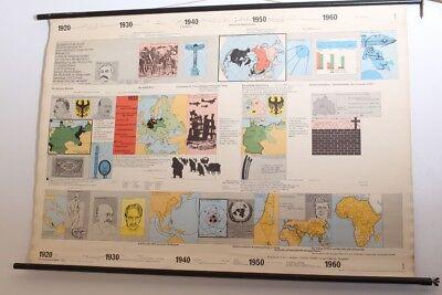 schulwandkarte Role Map Wall Chart geschichtsfries 1920 - 1960