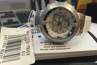 Casio Reloj Bebe' -g MSG-1010L-7BVER Blanco Luz Alarma Cronógrafo Hora Universal