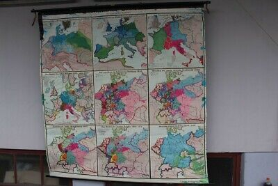 Schulwandkarte Role Map Wall Chart Germany IN Course Its History 30er