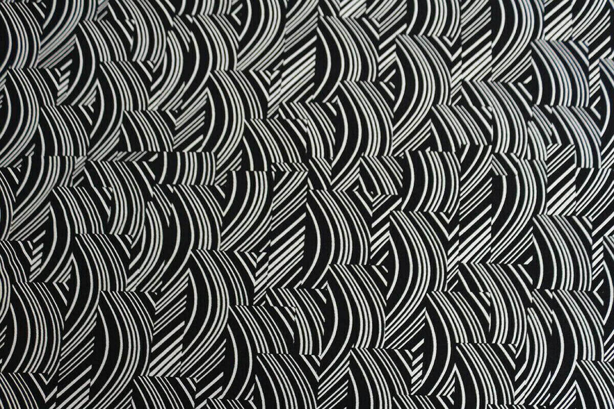 Arrows Geometric Shapes Viscose Elastane Jersey Dress Fabric Material Blue