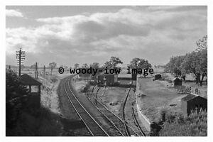 bb0776 - Burrelton Railway Station remains , Scotland - photograph 1974