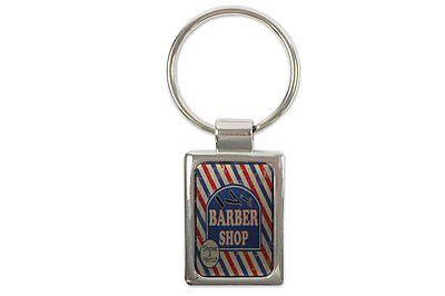Schlüsselanhänger Retro Barber Shop bedruckt