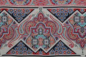 100% Viscose Elegant Pastel Regency Stripes Print Dress Fabric Material