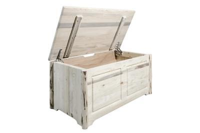 Amish Made Solid Wood Toy Chest Log Blanket Chest Rustic Lod