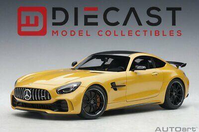 (AUTOART 76332 MERCEDES-AMG GT R, AMG SOLARBEAM YELLOW METALLIC 1:18TH SCALE)