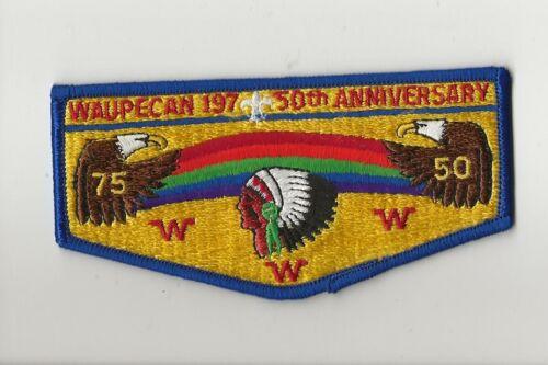 WAUPECAN OA LODGE 197 / 50th ANNIVERSARY  flap - Boy Scout BSA A132/7-2