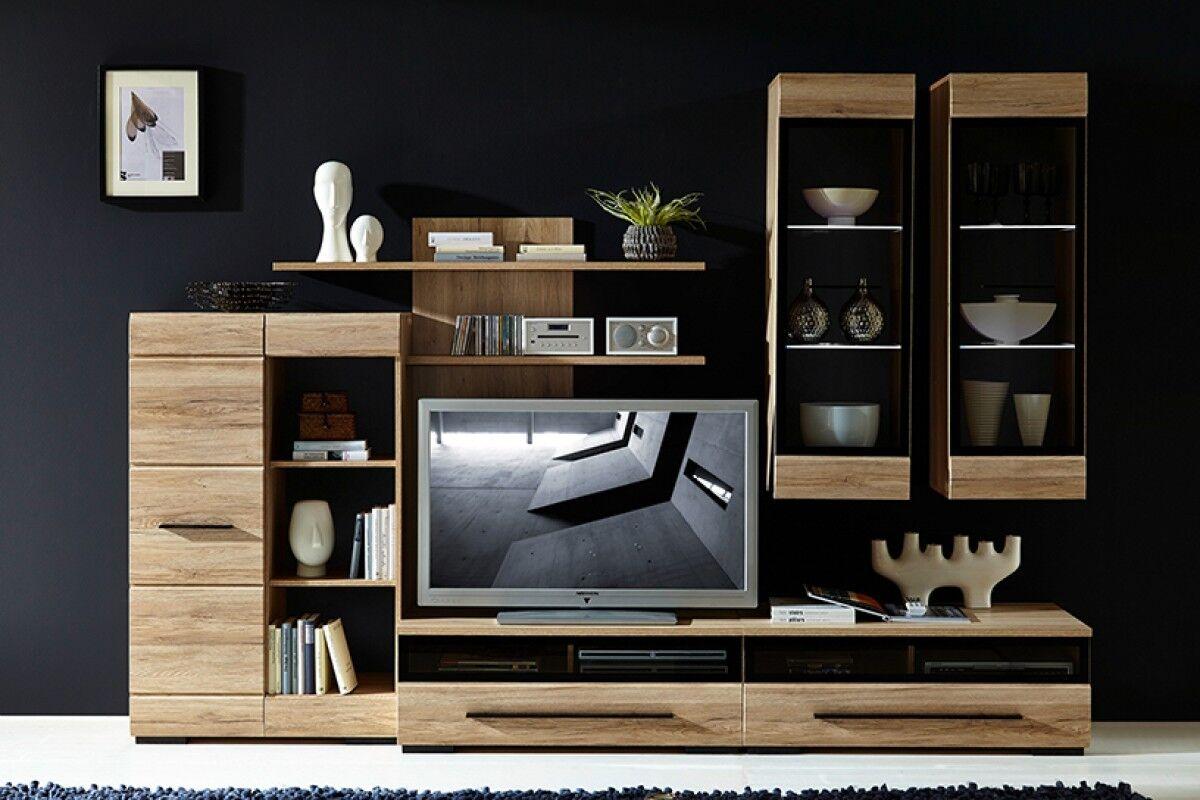 Bedroom /& Living Room Furniture Sonoma Oak Effect Veneer Sideboard Display Unit