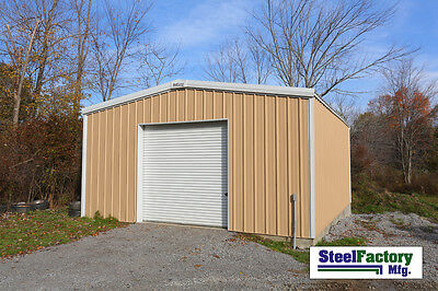 Steel Factory Mfg 20x24x10 Galvanized Metal Storage Steel Garage Building Kit