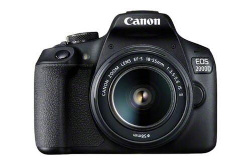 Canon EOS 2000D / Rebel T7 SLR Camera + 3 Lens Kit 18-55mm + 16GB + Flash & Mor