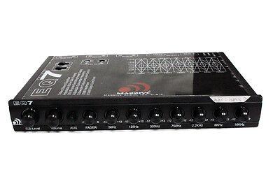 Massive Audio EQ 7 1/2 Din 7 Band In-Dash Graphic Equalizer 6 Channel Ouput