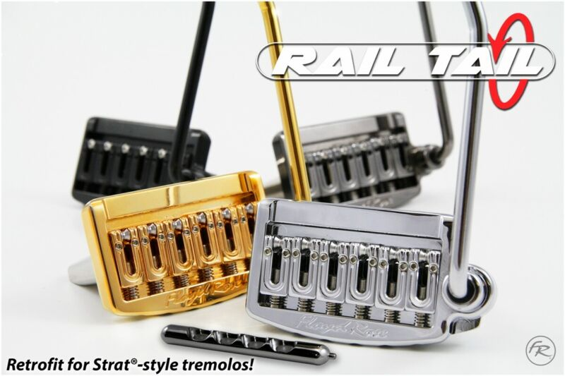 """Floyd Rose Rail Tail - Chrome Wide Spacing (2 7/32"""") Stratocaster Upgrade!!"""