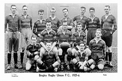 pt6651 - Bingley Rugby Union Team 1925-26 , Yorkshire - photo 6x4