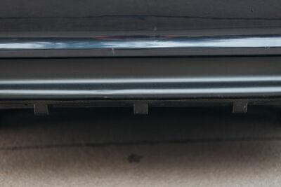 Difusor Parachoques Trasero Accesorio Carbono Falda Con Ribs Aleta Para BMW E46