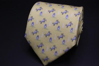 Vineyard Vines Chesapeake Energy Silk Tie  Yellow Oil Tower W Bull Design