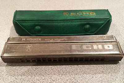 "Vintage M. Hohner Echo Harmonica with case, Made in Germany - Key of ""C"""