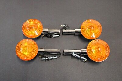 <em>YAMAHA</em> XS500 SET OF 4 INDICATORS   METAL BODIES   BLINKER WINKER TURN