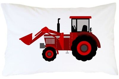 Red Tractor Pillowcase Gift For Boy Son Kid Children Tractor Pillow Case Bedding