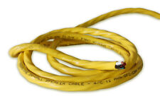 150 Feet 12 Gauge In-Wall/In-Room YELLOW Speaker Cable. 12/4 Wire. 99.99% Copper