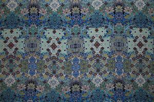 100% Crinkle Viscose Regency Floral Print Dress Fabric Material (Blue Shades)