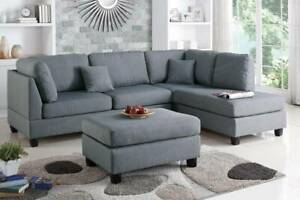 PRICE SLASHED BRAND NEW! Chaise Sofa FREE Ottoman