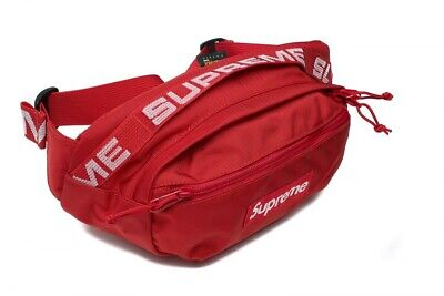 Supreme SS18 Red Waist Bag Fanny Pack Cordura Fabric