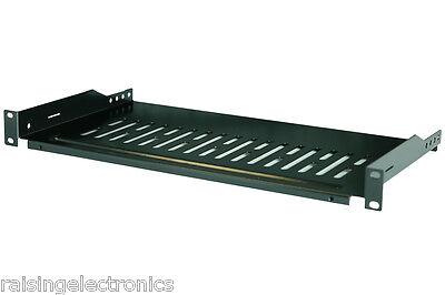 Cantilever Server Shelf Vented Black Shelves Rack Mount 19