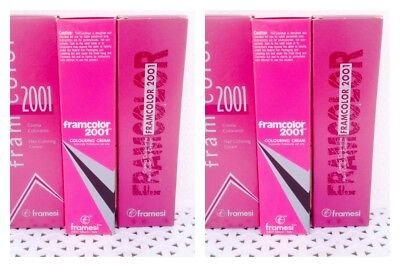 6 Framesi Framcolor 2001 Permanent Hair Color YOUR CHOICE of SAME COLOR  pk