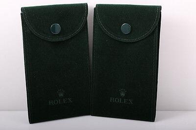 2 Rolex Vintage Green Service Pouch's