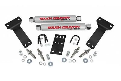 (ROUGH COUNTRY DUAL STEERING STABILIZER FORD F250 F350 SUPERDUTY EXCURSION 99-04)
