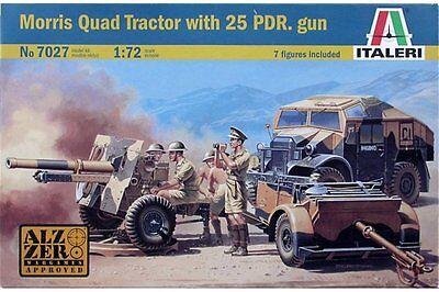 (ITALERI 7027 1/72 Morris Quad Tractor with 25 pdr. Gun)