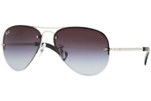 Ray Ban RB3449 003 8G Silver Frame Grey Gradient 59mm Lens Sunglasses