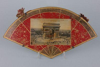Souvenir de Paris Hinterglasansicht, um 1900