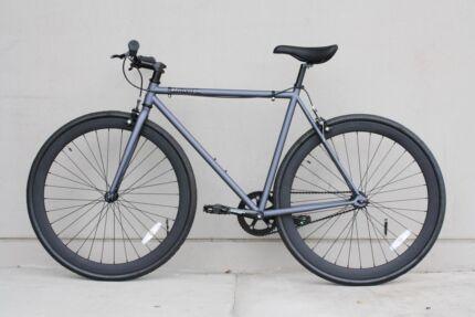 54cm Matte Grey & Black Single Speed Bike   Free Delivery North Melbourne Melbourne City Preview